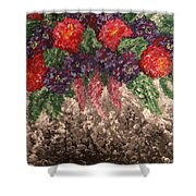 Impression Flowers Shower Curtain