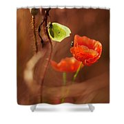 Impression With Red Poppies Shower Curtain