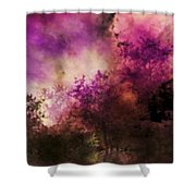 Impressionism Style Landscape Shower Curtain