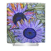 Impressionism Sunflowers Shower Curtain
