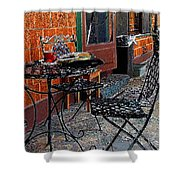 Impressionism The Looney Bean Cafe  Shower Curtain