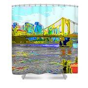 Impressionist Clemente Bridge 2 Shower Curtain