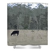 Impressionist Cows Grazing Shower Curtain
