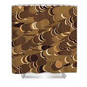 Impressionist Golden Rising Sand Castle Show Pattern Art 36x12 Horizontal Landscape Energy Graphics  Shower Curtain