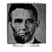 Impressionist Interpretation Of Lincoln Becoming Obama Shower Curtain by Doc Braham