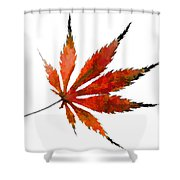 Impressionist Japanese Maple Leaf Shower Curtain