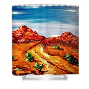 Impressionist Road Shower Curtain