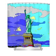 Impressionist Statue Of Liberty Shower Curtain