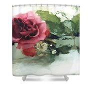 Impressionistic Watercolor Roses, Romantic Watercolor Pink Rose  Shower Curtain