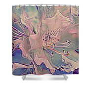 Impressionistic Spring Blossoms Shower Curtain