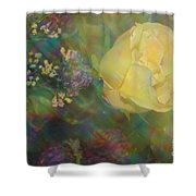 Impressionistic Yellow Rose Shower Curtain
