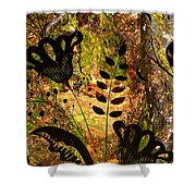 Impressions - Forest - Flowers Shower Curtain