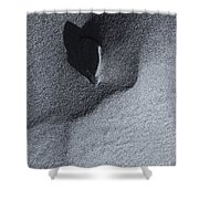 Impressions In The Sand Shower Curtain