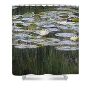 Impressions Of Monet's Water Lilies  Shower Curtain