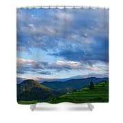 Impressions Of Mountains And Magical Clouds Shower Curtain