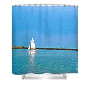 Impressions Of Sailing Shower Curtain