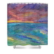 Impressions Of The Sea 1 Shower Curtain
