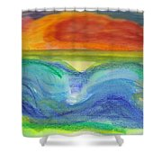 Impressions Of The Sea 4 Shower Curtain