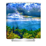Impressions Of Waterrock Knob On The Blue Ridge Parkway Shower Curtain