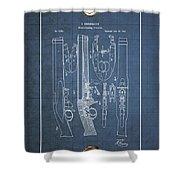 Improvement To Muzzle-loading Fire-arm - Vintage Patent Blueprint Shower Curtain