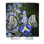 In A Butterfly Garden Two Shower Curtain