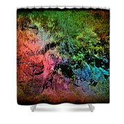 In A Colorful World Shower Curtain