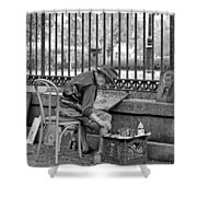 In Another World Monochrome Shower Curtain