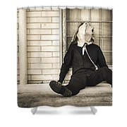 In Bliss Of Ignorance Shower Curtain