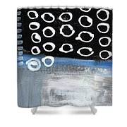 In Circles 2-abstract Painting Shower Curtain