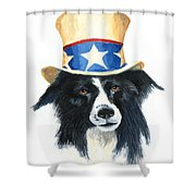 In Dog We Trust Shower Curtain
