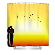 In Each Others Arms II... Shower Curtain