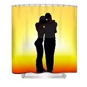 In Each Others Arms... Shower Curtain
