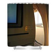 In Flight Choices Shower Curtain