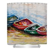 In From The Sea Shower Curtain by Eloise Schneider