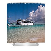 In Harmony With Nature. Maldives Shower Curtain by Jenny Rainbow