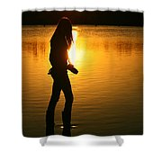 In Her Element Shower Curtain by Laura Fasulo