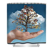 In His Hands Shower Curtain