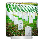 In Honor And Tribute Shower Curtain by Greg Fortier