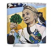 In Honor Of Hillary Clinton Shower Curtain by Konni Jensen