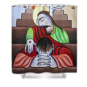 In Jesus Name Shower Curtain