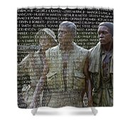 In Life And Death Shower Curtain