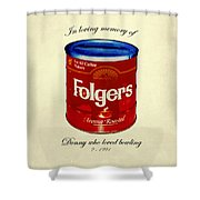 In Loving Memory Of Donny Who Loved Bowling  Variant 1 Shower Curtain