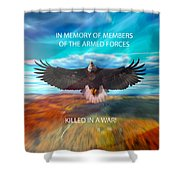 In Memoryof Armed Forces Shower Curtain