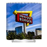 In N Out Shower Curtain