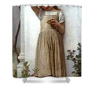 In Penitence Shower Curtain