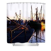 In Port For The Night Shower Curtain