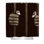 In Prison Shower Curtain