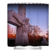 In Sacrifice Is Peace Shower Curtain