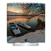 In Safe Harbor Shower Curtain by Davorin Mance