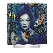 In Search Of Balance Shower Curtain